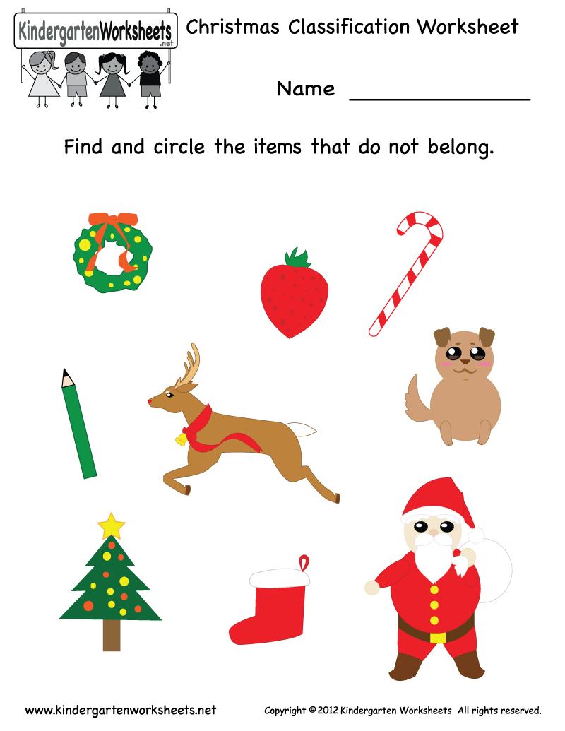 Christmas Classification Worksheet Free Kindergarten Holiday Worksheet For Kids Christmas Kindergarten Christmas Worksheets Holiday Worksheets [ 1035 x 800 Pixel ]