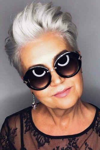 35+ Frisuren für Frauen über 50 für einen schön neuen Stil #over50