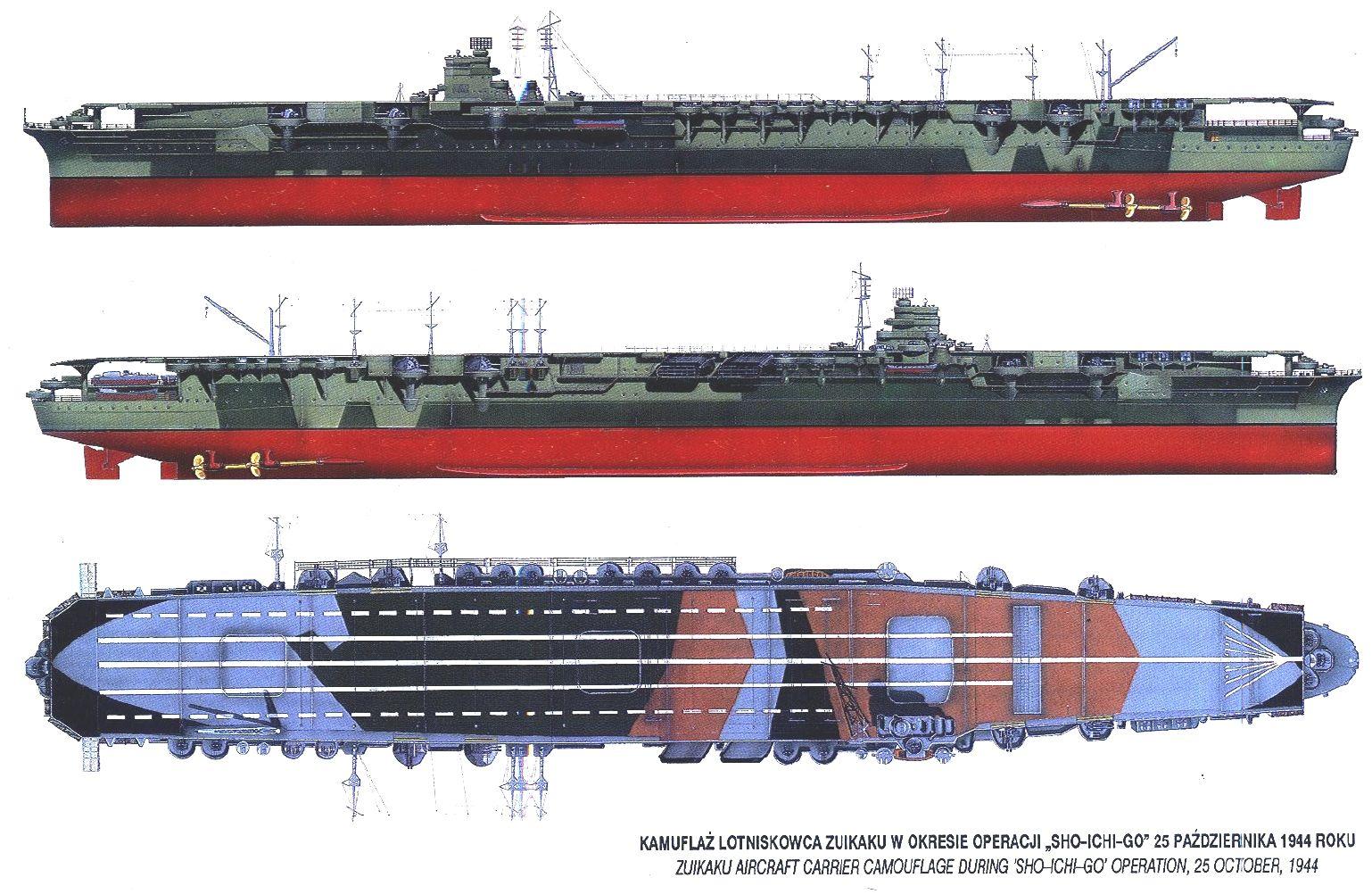 IJN Aircraft Carrier Zuikaku Warships Diagram 70