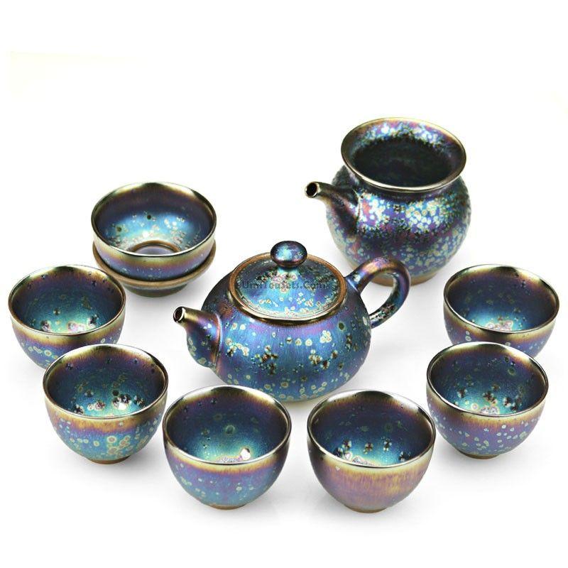 Furnace Transmutation Peacock Tea Set #teasets