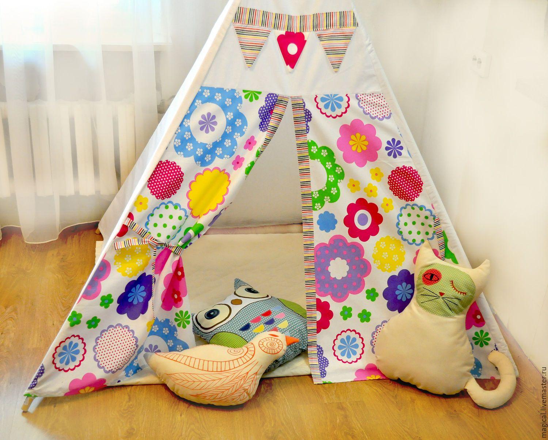 """Купить Вигвам """" floral"""" - вигвам для детей, игрушка для детей, шалаш, Палатка…"""