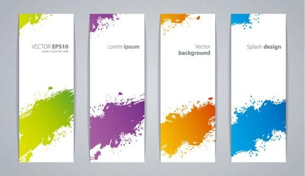 Colorful printing vertical banner design vector material ...