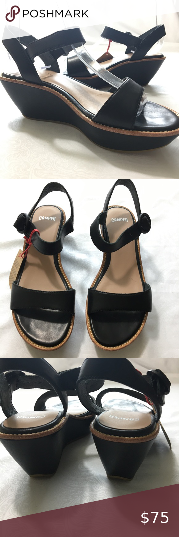 Camper Leather Wedges Size 5/ 5.5