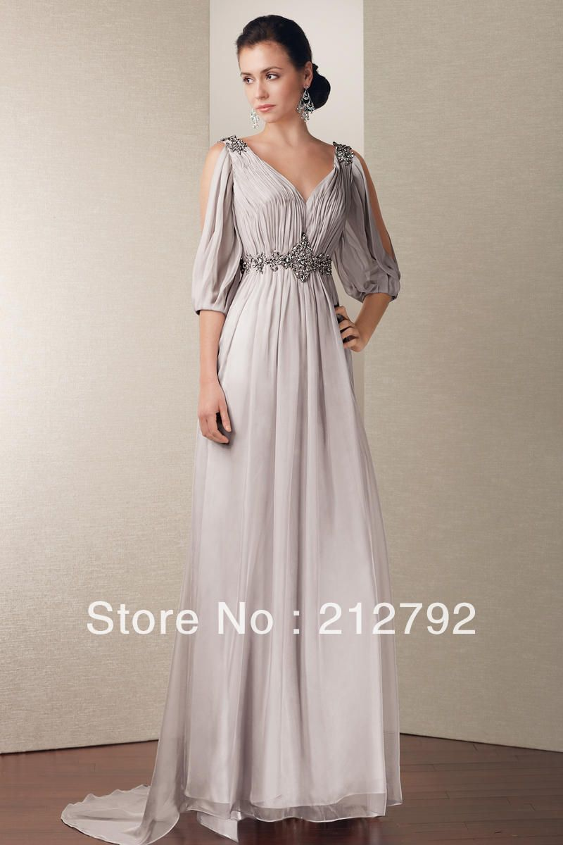 Bohemian mother of the bride dress with sleeve shellyb the big