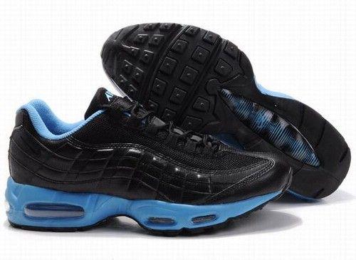 Nike Mens Air Max 95 Black Light Blue Trainers