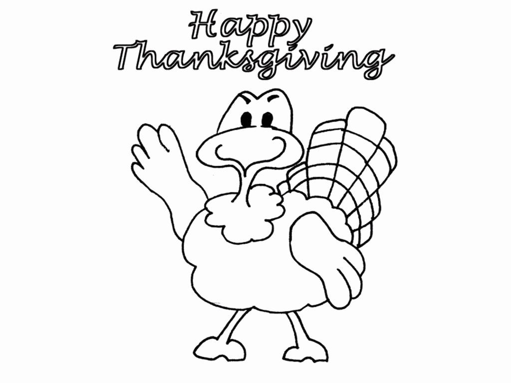 Coloring Pages For Kids Thanksgiving Di