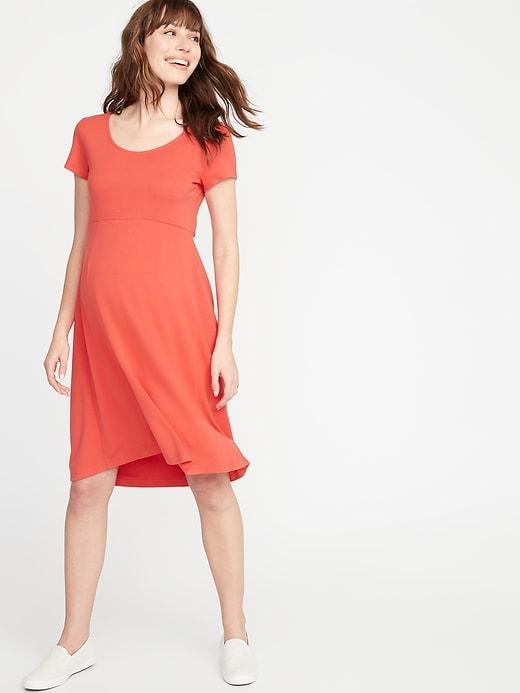 a69447199219e Old Navy Women's Maternity Fit & Flare Ponte-Knit Dress Tamarind Size XXL