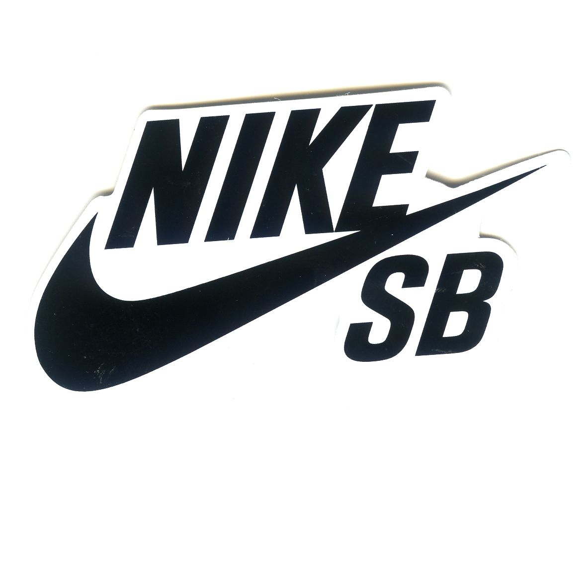 #1586 NIKE SB Black logo 9x4.5 cm decal sticker