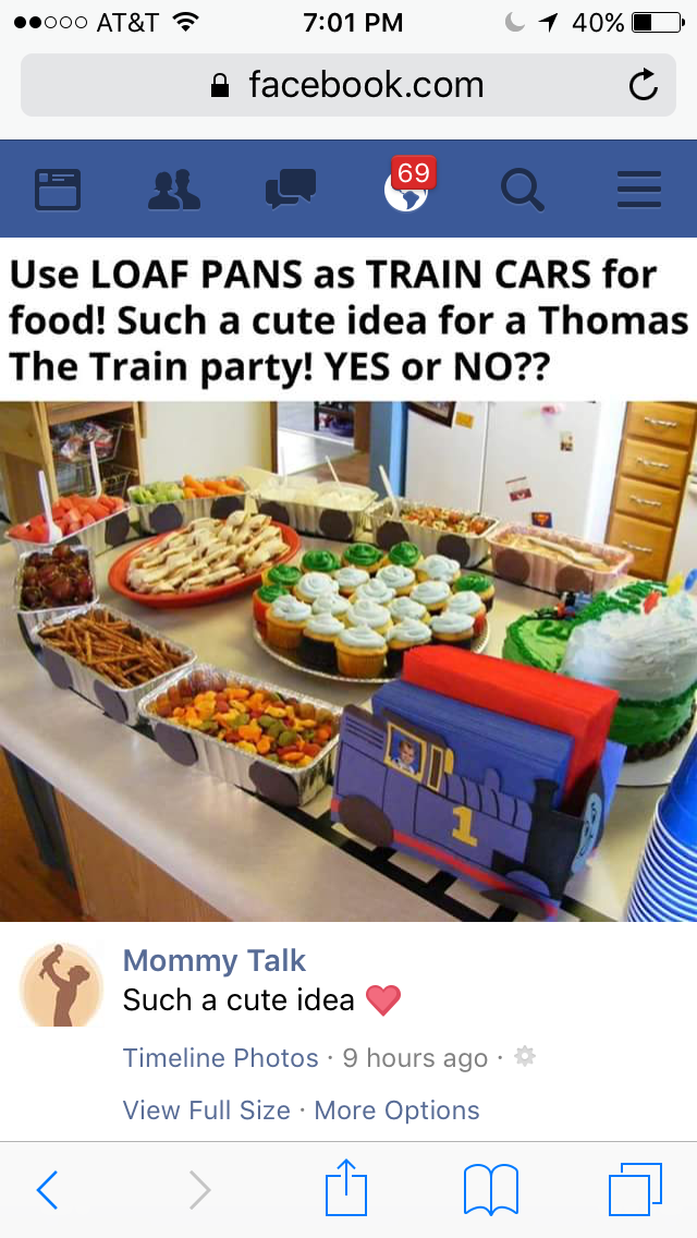 Train Party Idea