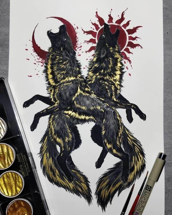 Fantasy Animal Paintings Drawings.