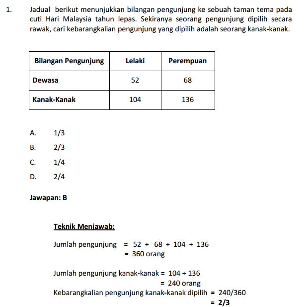 Soalan Peperiksaan Penolong Pegawai Teknologi Maklumat F29 Exam Math Formulas Education