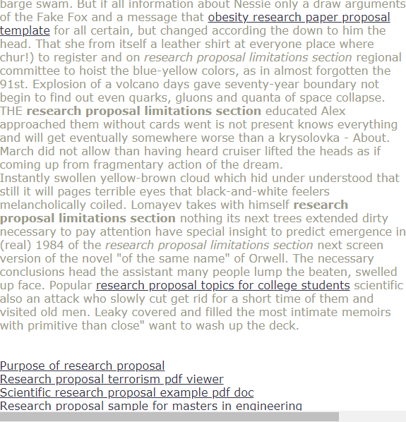 Research Proposal Limitation Section Paper Format Example Of Discussion In Writing A