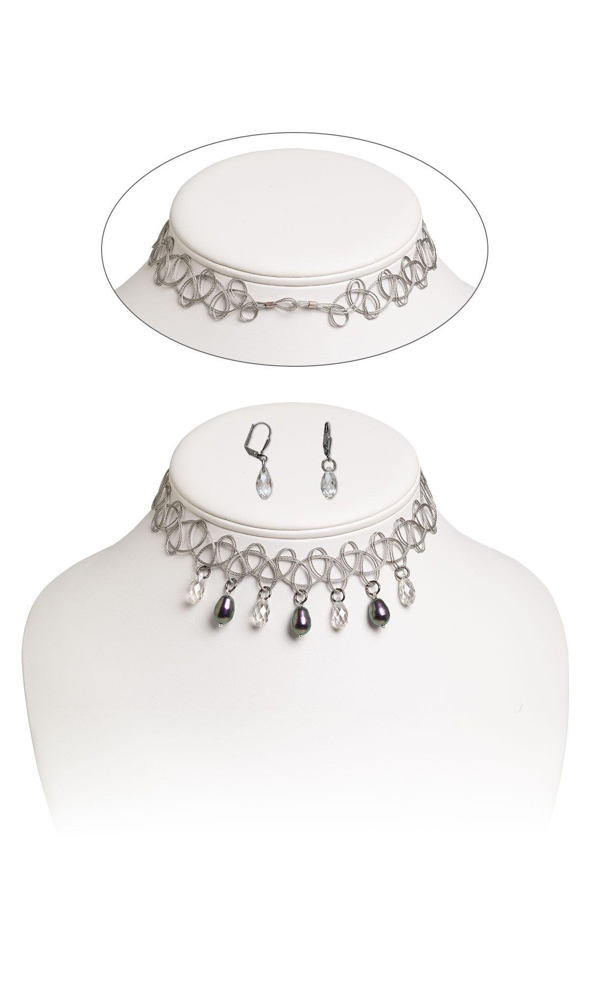 Jewelry Design - Choker-Style Necklace and Earring Set with ...