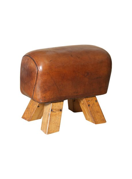 love the rustic look of this french pommel horse foot stool gym bench the highboy