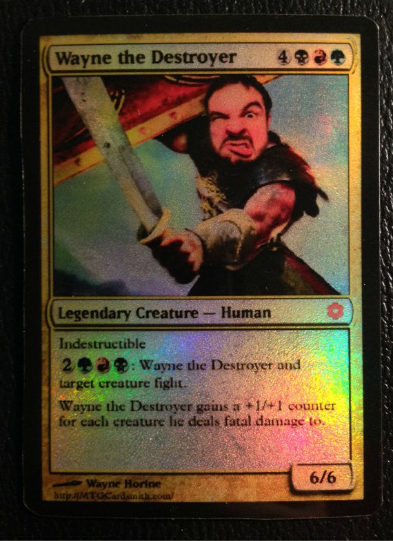 Your Face And Name On This Male Warrior Foil Magic The