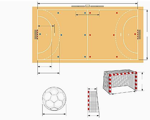Terrain de handball | Handball, Le handball et Sport collectif