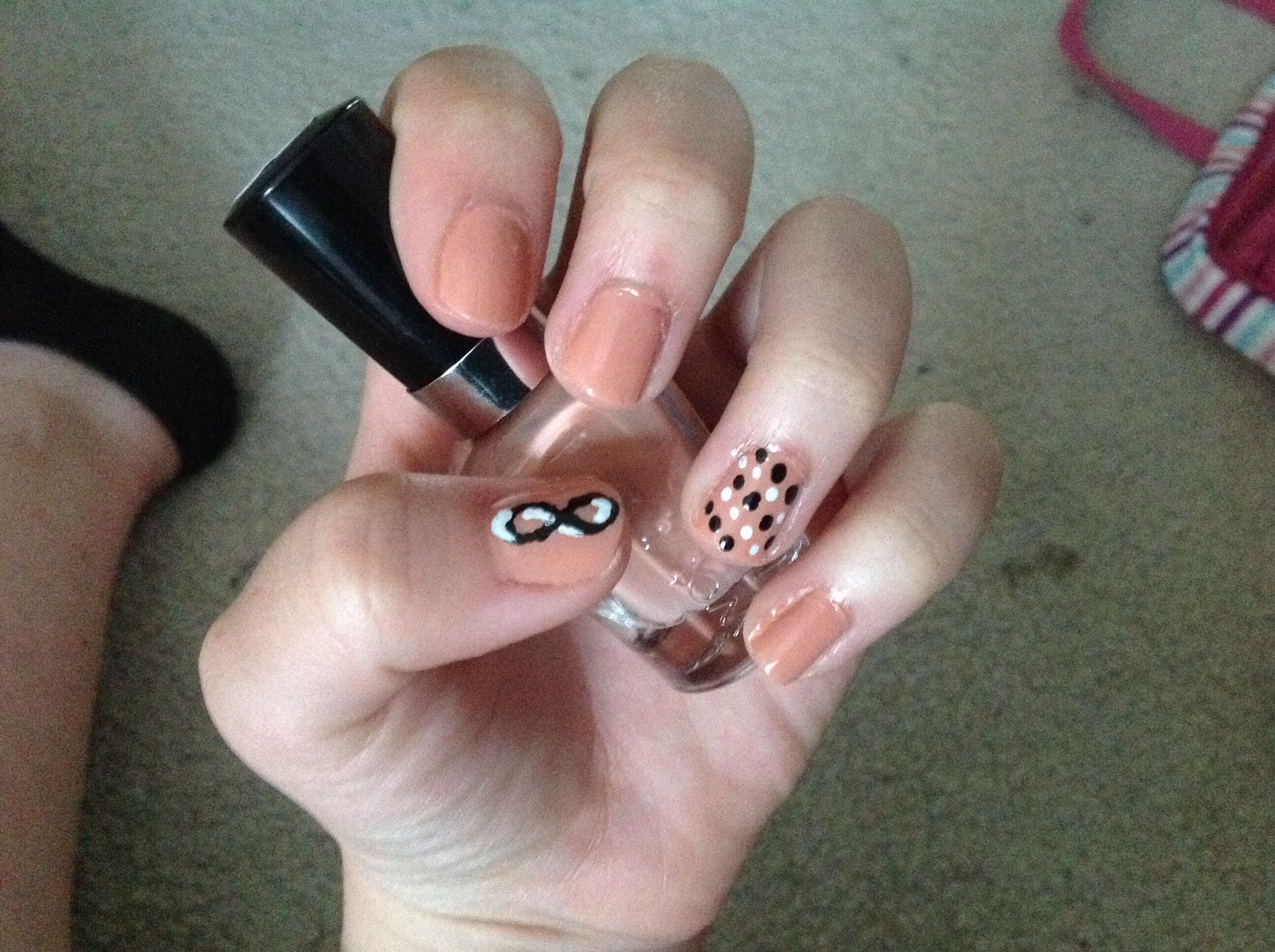 Pink Infinity Nails