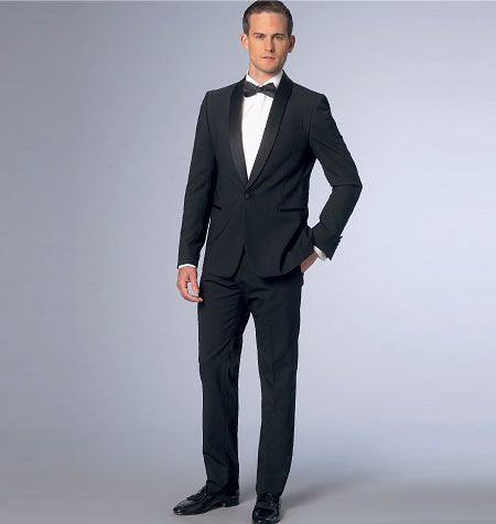 From Vogue Patterns, men\'s tuxedo and dinner jacket sewing pattern ...