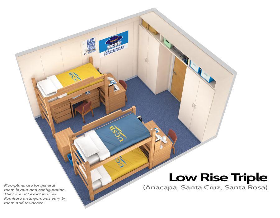Santa Cruz | Housing U0026 Residential Services UCSB. Dorm Room LayoutsDorm  LayoutTriple ... Part 9