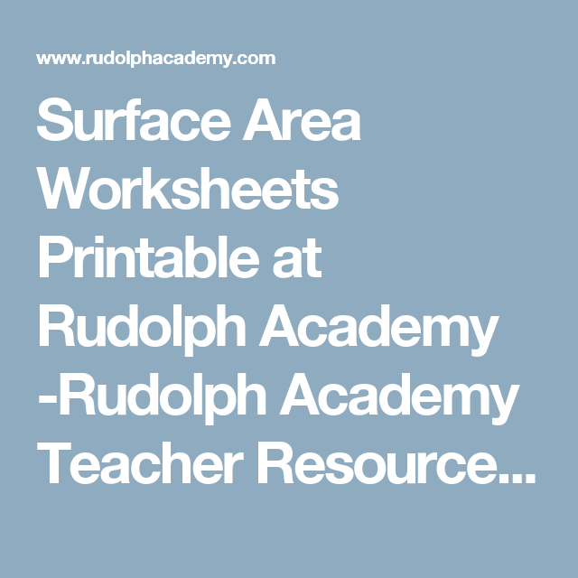 Surface Area Worksheets Printable at Rudolph Academy -Rudolph ...
