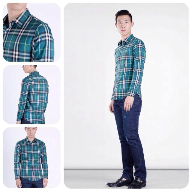 Caro shirt SMD.163 Burberry motif for elegant gent.