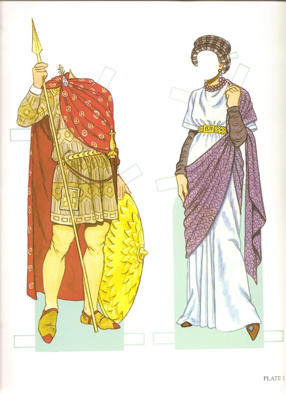 The Paper Dolls Represent Emperor Justinian I Ruled Ad