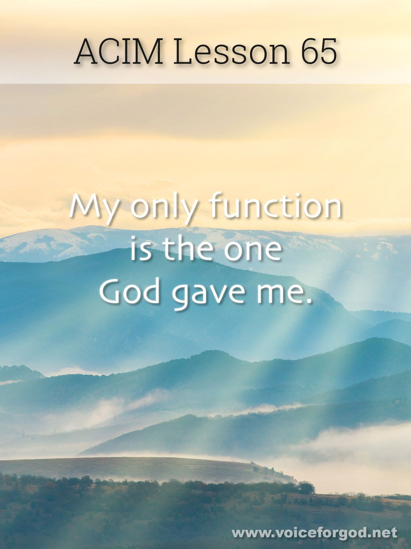 Acim Lesson 65 A Course In Miracles Workbook Lesson 65 Course