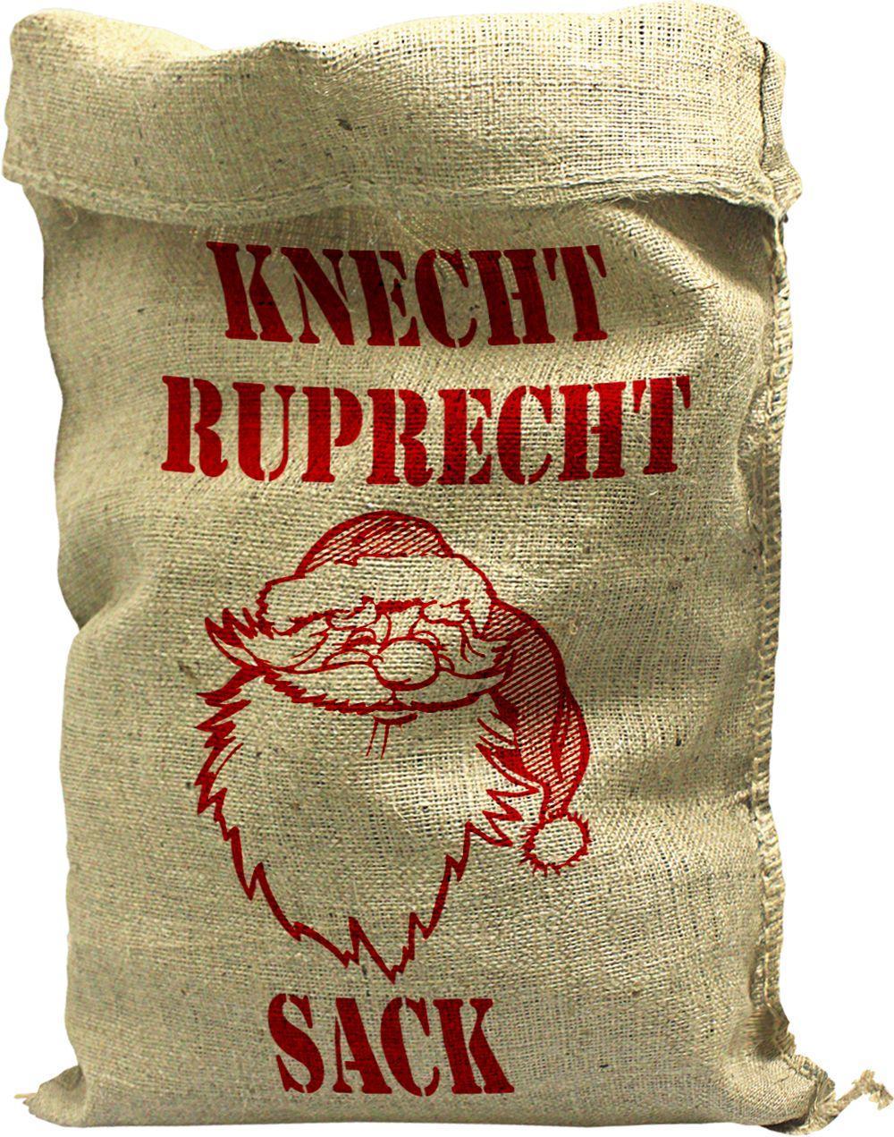 jutesack mit aufdruck knecht ruprecht sack gr 136x56cm