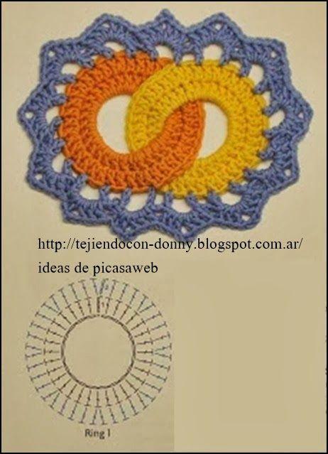 puntos tejidos a crochet , con sus patrones http://graficos-on ...