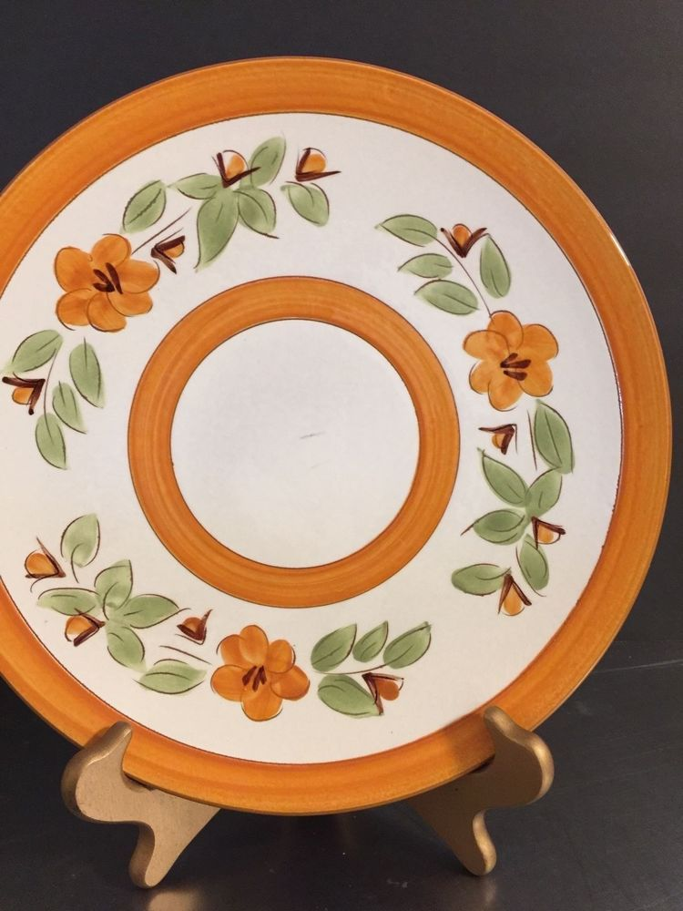 Vintage Stangl Bittersweet Dinner Plate Made USA Mid Century Pottery Floral : dinner plates made in usa - pezcame.com