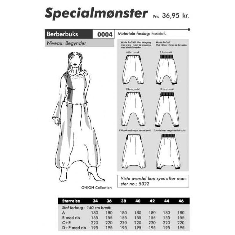 Sewing Pattern Onion 0004 Wide Pants Size 34-46 | Nähen | Pinterest ...
