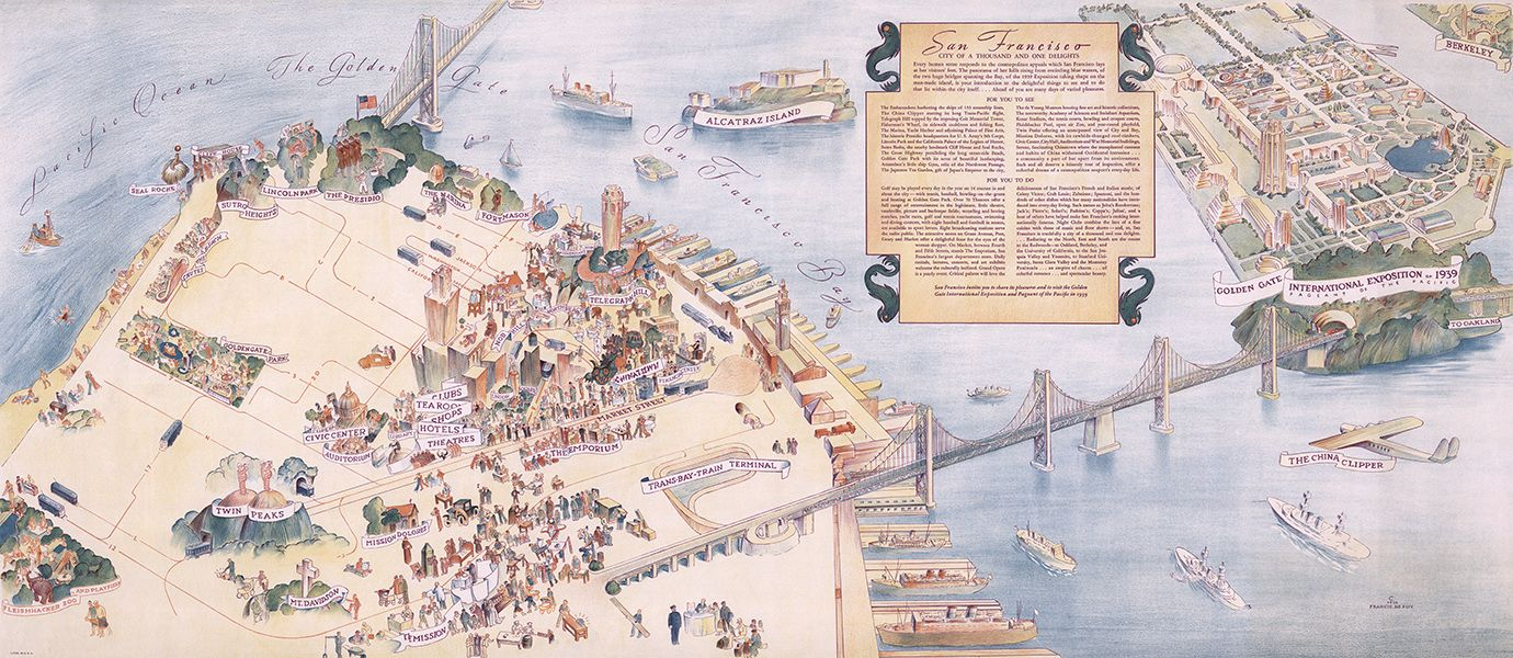 A beautiful pictorial map of San Francisco