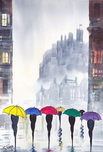 """""""Rainy Day Edinburgh"""" by K J Carr"""