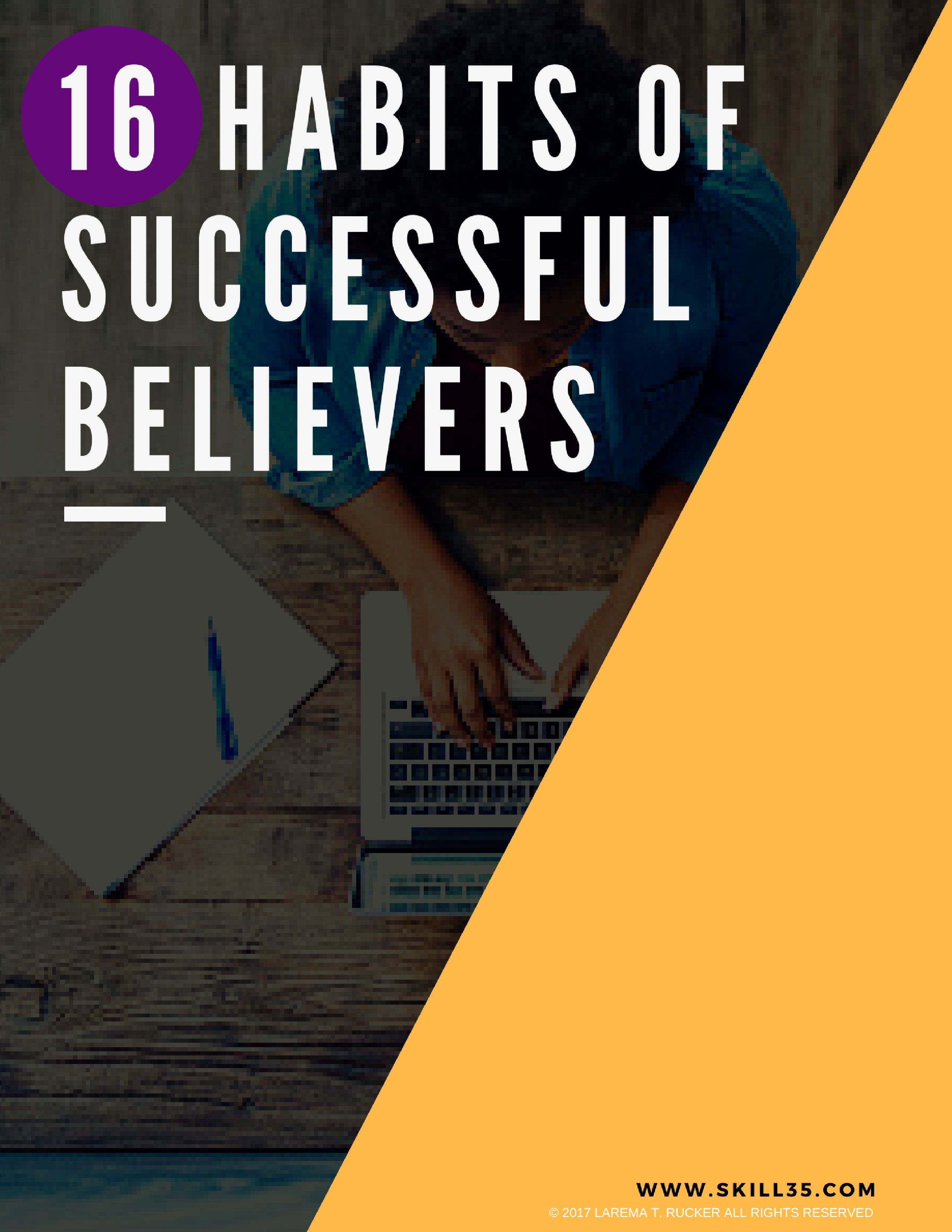 Pdf Download 16 Habits Of Successful Believers Habits For