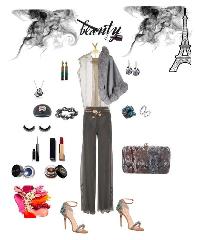 """""""Untitled #321"""" by lianatzelese on Polyvore featuring Rick Owens, Tiffany & Co., MSGM, GEDEBE, Oscar de la Renta, Givenchy, Bobbi Brown Cosmetics, Gucci, Harrods and Tory Burch"""