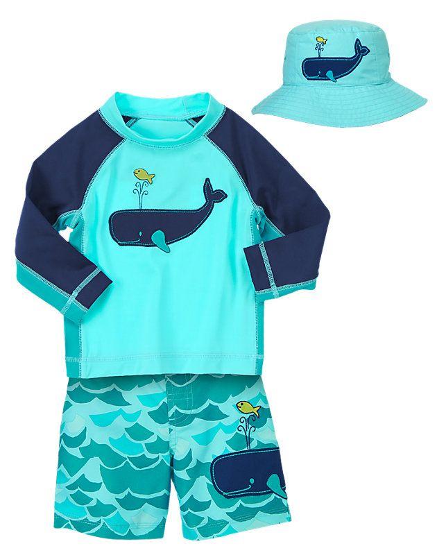 6bf2432492 Gymboree Boys (3 mos - 5T) Mini Mariner Swimwear Outfit Baby Boy Swimwear,
