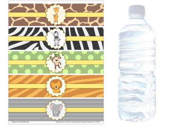 Diy Printable Water Bottle Labels 8oz 12oz 1 7 X8 25 16