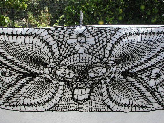 Witchey Woman Skull Shawl Large Crochet Shawl by spidermambo ...