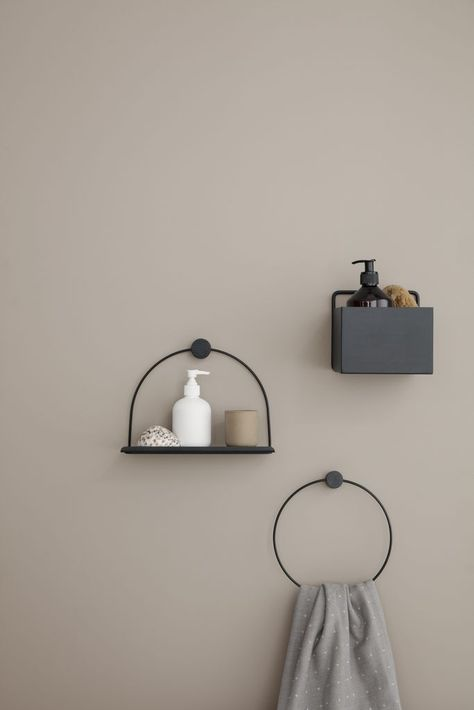 Square Wall Box in Black design by Ferm Living is part of Home Accessories Design Bathroom Storage -