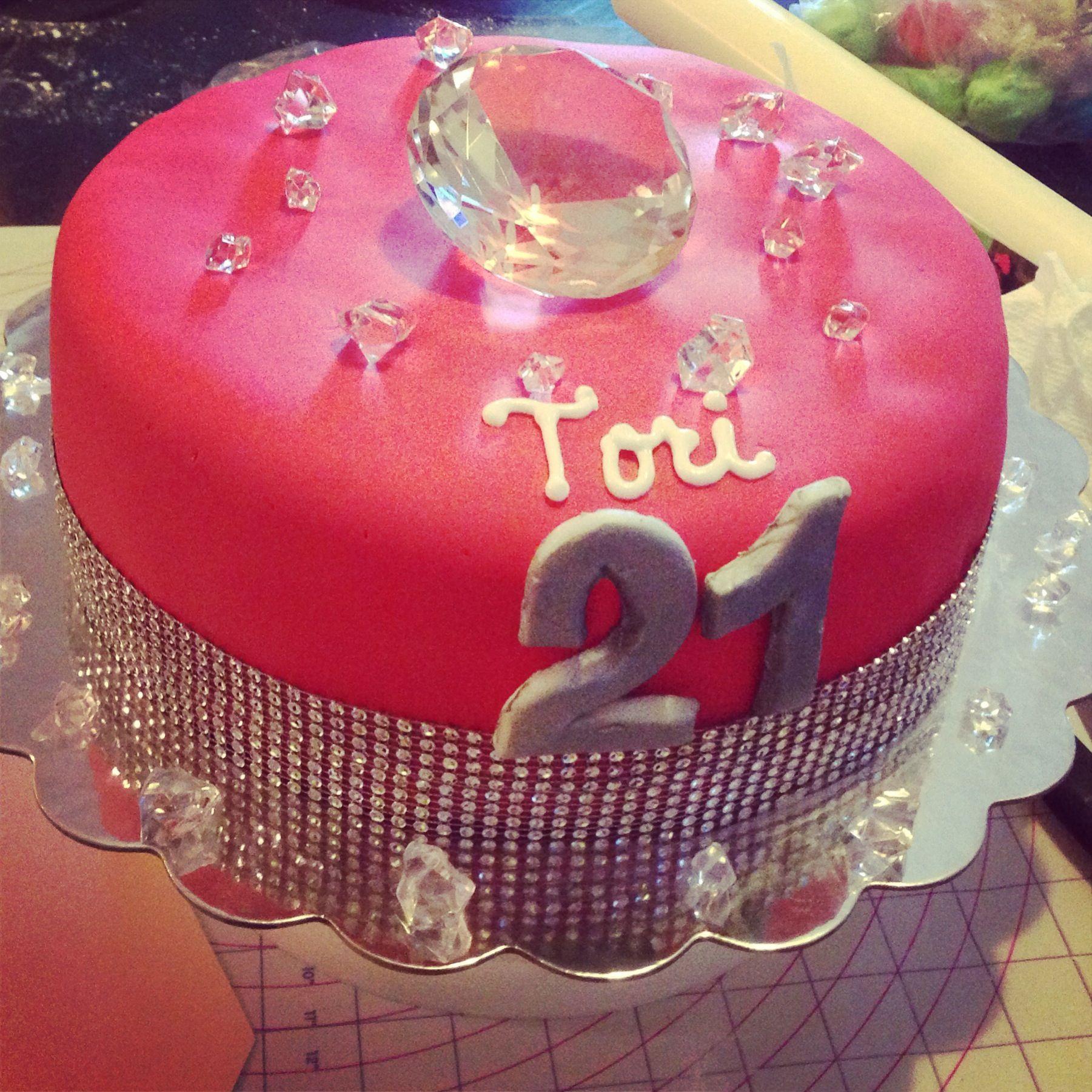 Diamond cake teenage girls birthday party ideas