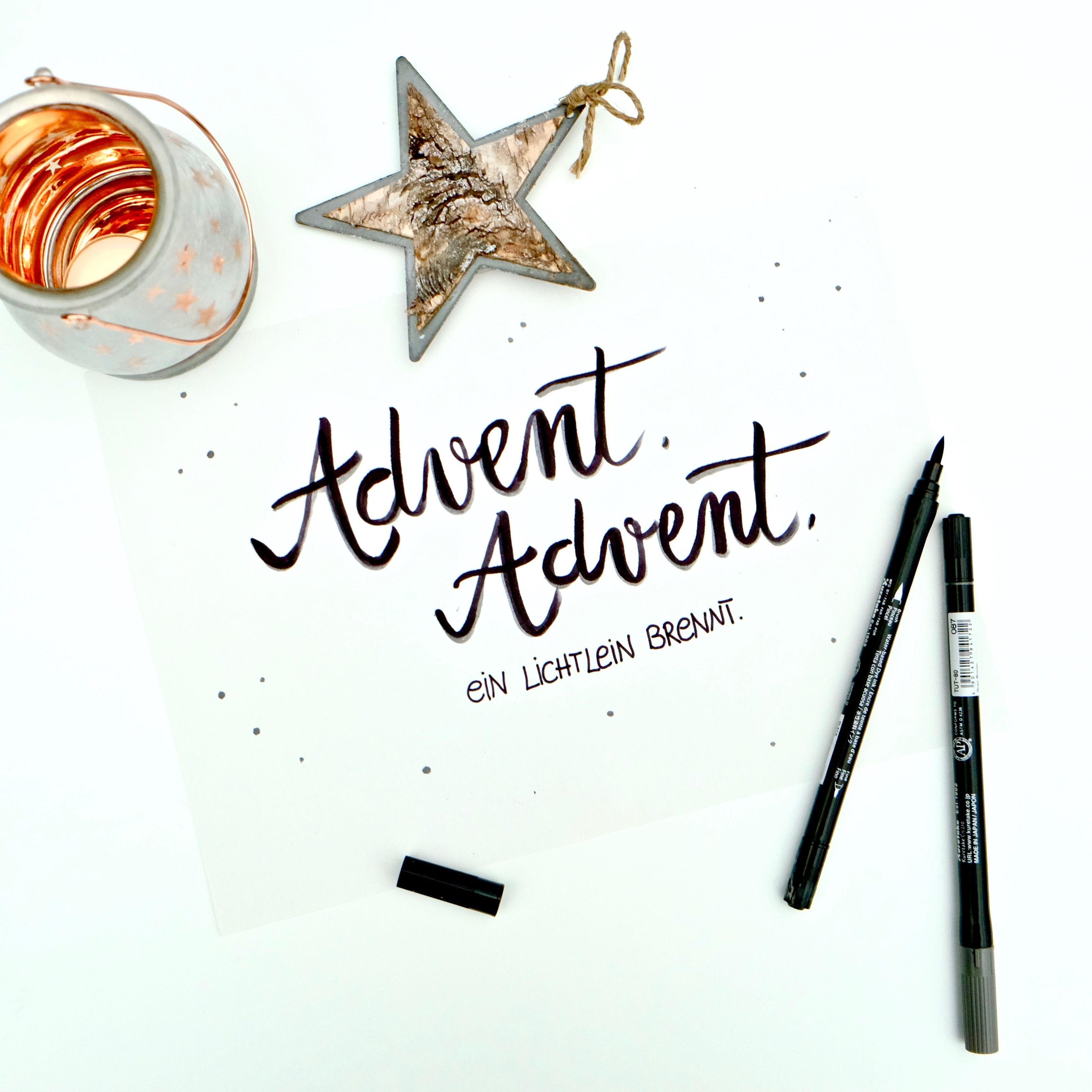 Advent Advent Ein Lichtlein Brennt Advent Schone Adventszeit Lettering