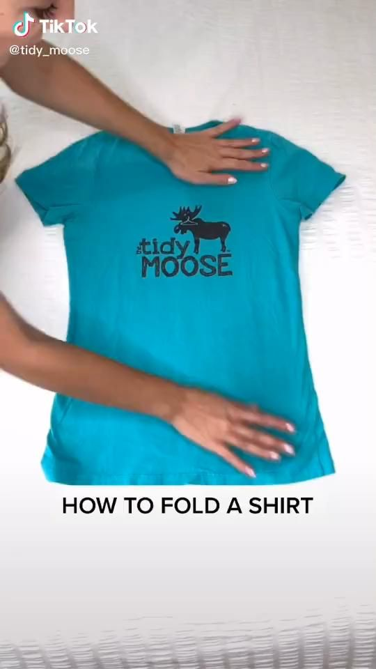 How to Fold a T-shirt Small to Save Space