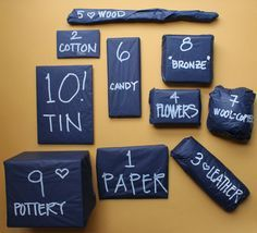 10 gifts for 10 years} traditional wedding gifts in packages/corner ...