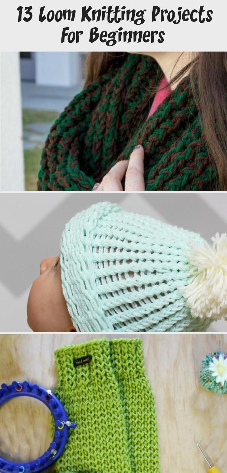 Photo of Knit up a warm and fun infinity loom knit scarf in just a few hours! A great pro…