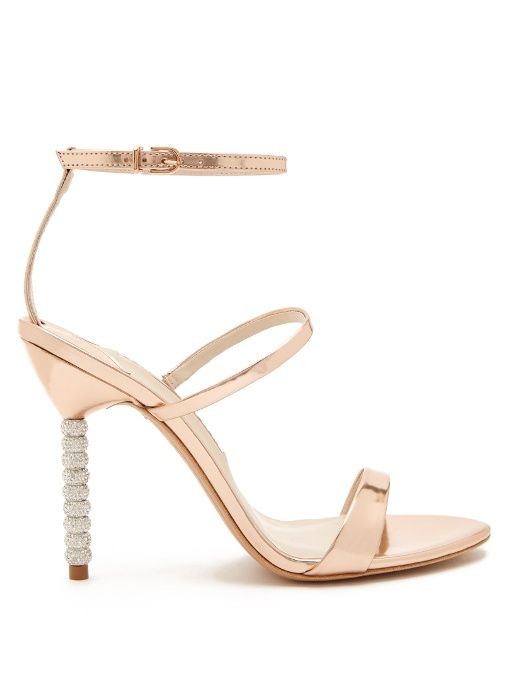 4231677da81 SOPHIA WEBSTER Rosalind Crystal Embellished-Heel Leather Sandals.   sophiawebster  shoes  sandals