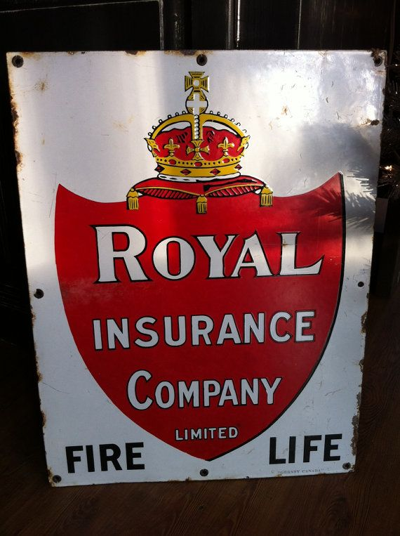 Porcelain Sign Royal Insurance Company By Karriearthurspaper
