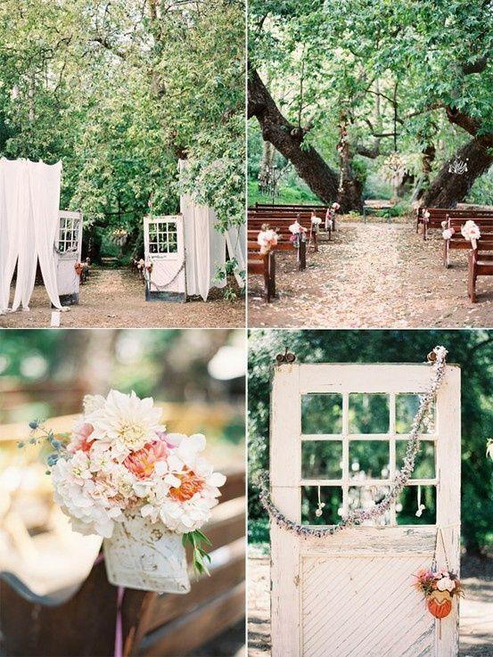 Things For Someday Vintage Outdoor Weddings Outdoor Wedding Rustic Chic Wedding