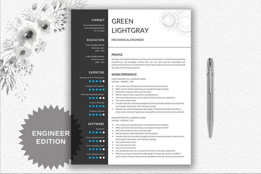Ad Resume Cv Template Engineer By Documentfolder On