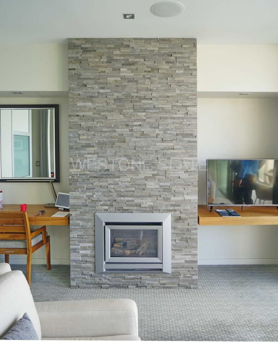 ledgestone fireplace hearth in patio multicolor ledgestone veneer