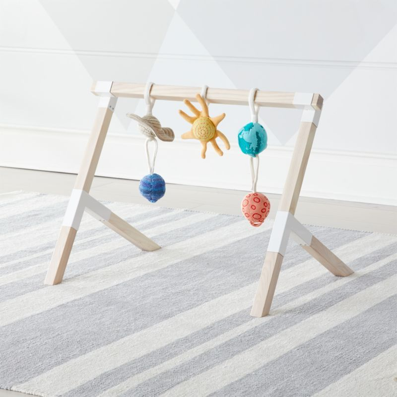 Modern Baby Gym With Solar System Rattles Set Of 5
